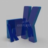 Lacivert 4cm Kalınlığında Karplex Işıksız Harf