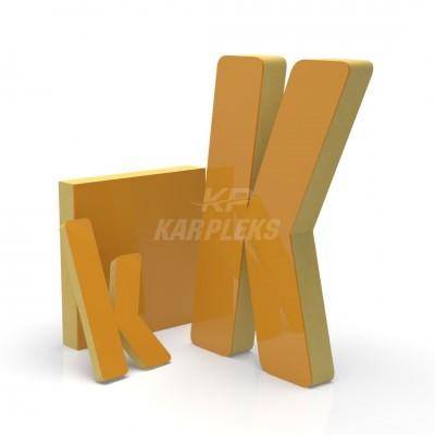 Sarı 2cm Kalınlığında Karpleks Işıksız Harf