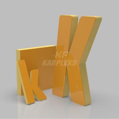 Sarı 4cm Kalınlığında Karpleks Işıksız Harf
