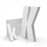 Beyaz 2cm Kalınlığında Karpleks Işıksız Harf