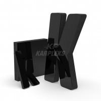 Siyah 2cm Kalınlığında Karpleks Işıksız Harf