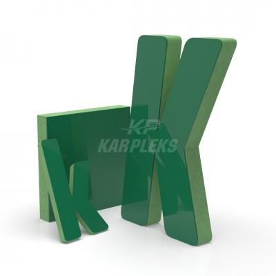 Yeşil 2cm Kalınlığında Karpleks Işıksız Harf
