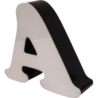 20cm Kutu Harf - Alüminyum ya da Galvaniz Bantlı - Işıklı