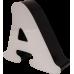 25cm Kutu Harf - Alüminyum ya da Galvaniz Bantlı - Işıklı