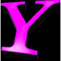 40cm Kutu Harf - Alüminyum ya da Galvaniz Bantlı - Işıklı