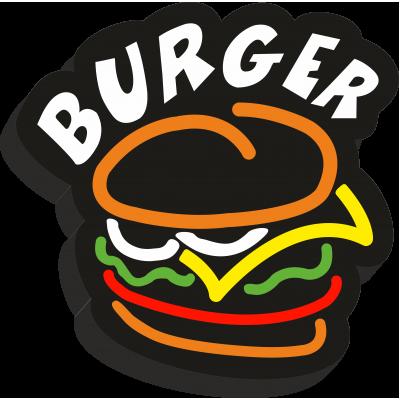 Burger Işıklı Pleksi Tabela