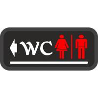 WC Tabelası - Bay Bayan - Sol Ok / Sağ Ok