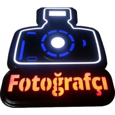 Fotoğrafçı Tabelası Led Işıklı