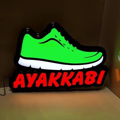 Ayakkabı Led Işıklı Tabela