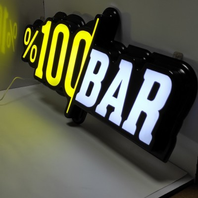 %100 Bar Led Tabela - Işıklı Bar tabelası