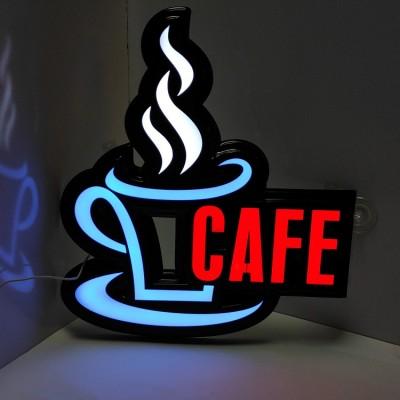 Led Işıklı Cafe Tabelası