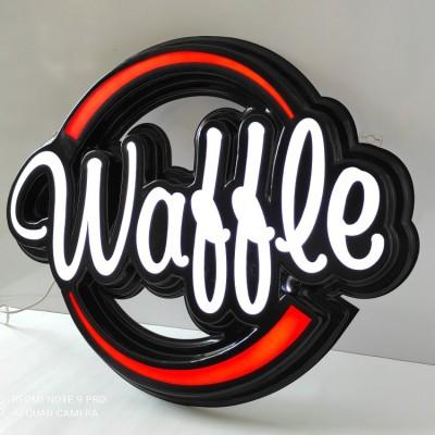 Waffle Tabelası - Işıklı Hazır Waffle Tabelası