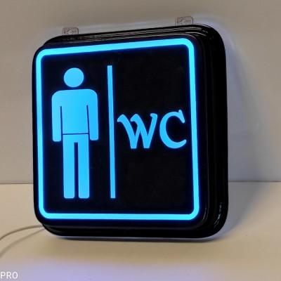 WC Tabela - WC Bay - Led Işıklı WC Tabelası