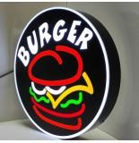 Burger Tabelası - Burger Daire Tabela