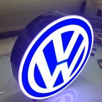 Araç Logosu - Işıklı VolksWagen Logo
