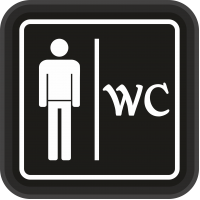 WC Tabela - WC Bay - Led Işıklı Tabela