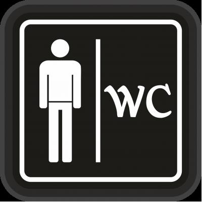 WC Tabela - WC Bay - Led Işıklı Tabela