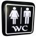 WC Tabela - Bay Bayan WC Led Işıklı Tabela