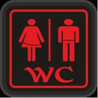 WC Tabela - WC Bay Bayan Led Işıklı Tabela