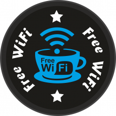 Free Wifi Işıklı Tabela
